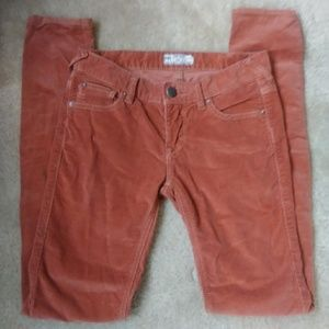 Burnt orange corduroy FREE PEOPLE skinny jeans